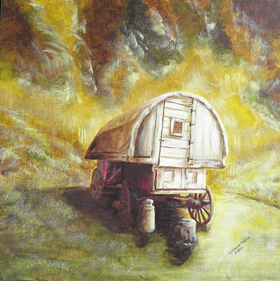 Painting - Montana Sheep Wagon by Sharon Tabor