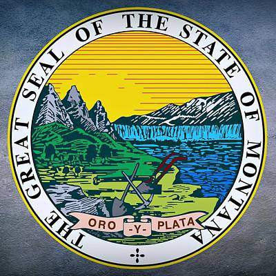Missouri River Digital Art - Montana State Seal by Movie Poster Prints