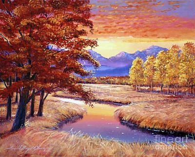 Big Skies Painting - Montana Sunset by David Lloyd Glover