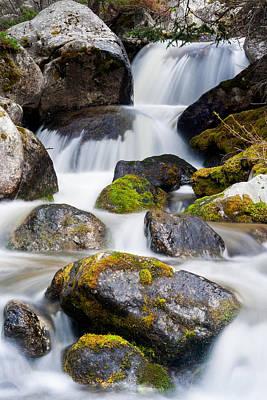 Beartooth Mountain Range Photograph - Montana Waterfall by Wendy Thompson