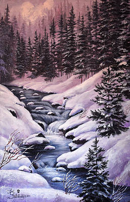 Snow Painting - Montana Winter by Lori Salisbury