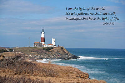 Montauk Lighthouse/camp Hero/inspirational Art Print