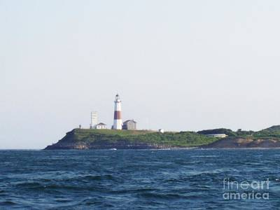 Photograph - Montauk Lighthouse From The Atlantic Ocean by John Telfer