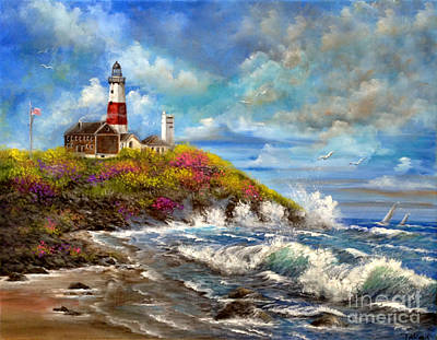 Painting - Montauk Lighthouse by Patrice Torrillo
