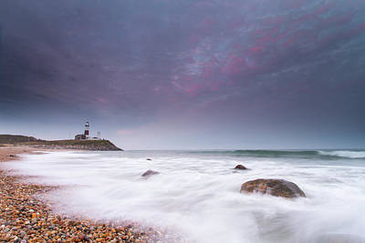 Montauk Point Lighthouse Photograph - Montauk Point Lighthouse At Dusk by Robbie George