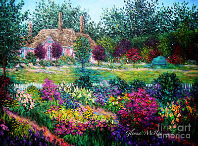 Painting - Montclair English Garden by Glenna McRae