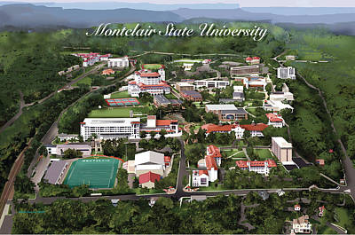 Rhett Erb Drawing - Montclair State University by Rhett and Sherry  Erb