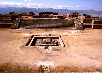 Photograph - Monte Alban - Central Plaza by Robert  Rodvik
