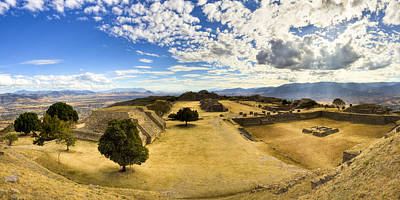 Photograph - Monte Alban Zapotec Panorama by Mark E Tisdale