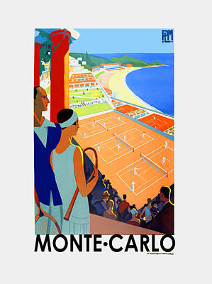 Monte Carlo 1930 Art Print by Mark Rogan