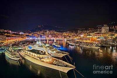 Monte Carlo Harbor Art Print by John Greim