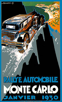Photograph - Monte Carlo Rallye Automobile by Vintage Automobile Ads and Posters