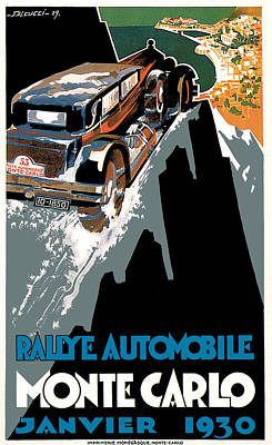 Monte Carlo - Vintage Poster Art Print by World Art Prints And Designs
