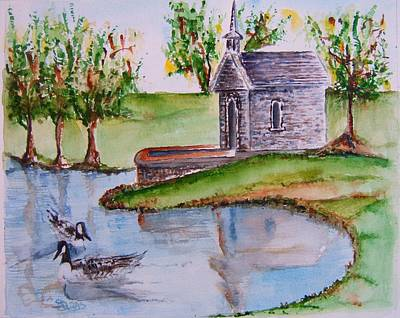 Northern Kentucky Painting - Monte Casino Chapel by Elaine Duras