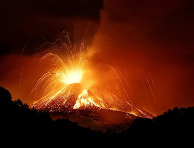Magma Photograph - Monte Etna by Nicol? Parasole