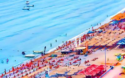 Beach Landscape Mixed Media - Montenegero Beach by Richard Dagostino
