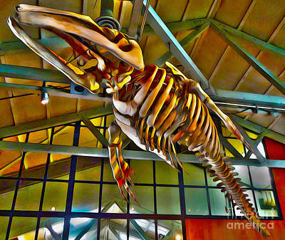Painting - Monterey Bay Aquarium - Whale Skeleton - 02 by Gregory Dyer