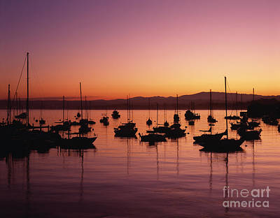 Photograph - Monterey Bay With Sailboats by Jim Corwin