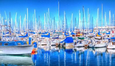 Jerry Sodorff Royalty-Free and Rights-Managed Images - Monterey Bay Yacht Club 19704 2 by Jerry Sodorff