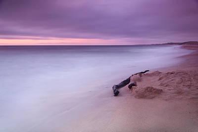 Natural Bridges State Beach Photograph - Monterey Beach Sunset by Chris Frost