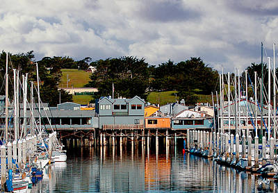 Digital Art - Monterey Boat Harbor And Old Fishermans Wharf by Jim Pavelle