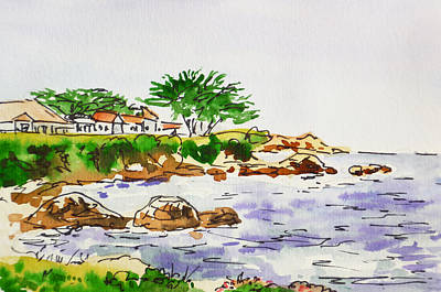 Monterey Painting - Monterey- California Sketchbook Project by Irina Sztukowski