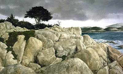 Monterey Coast Art Print by Tom Wooldridge