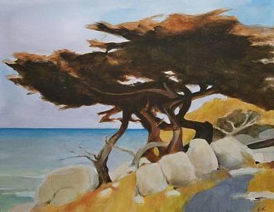 Monterey Cypress Art Print by Ed  Heaton