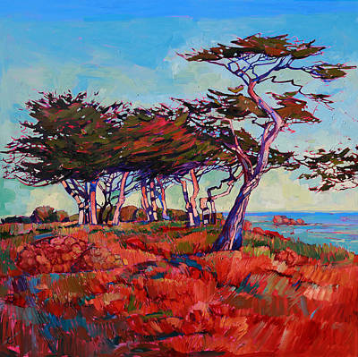Bright Colors Painting - Monterey Diptych Left Panel by Erin Hanson