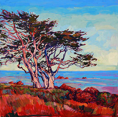 Thick Painting - Monterey Diptych Right Panel by Erin Hanson