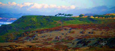 Digital Art - Monterey Dunes Stroll by Jim Pavelle