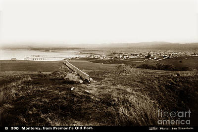 Photograph - Monterey From Fremonts Old Fort Circa 1880 by California Views Mr Pat Hathaway Archives