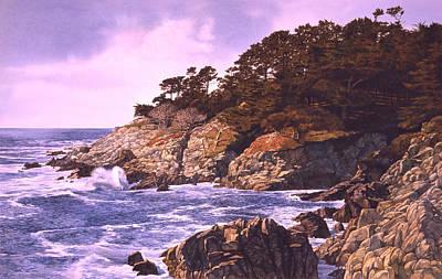 Art Print featuring the painting Monterey Glory by Tom Wooldridge