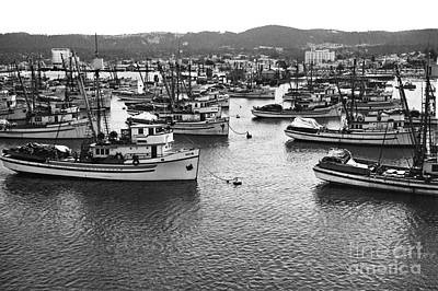 Photograph - Monterey Harbor Full Of Purse-seiner Fishing Boats California 1945 by California Views Mr Pat Hathaway Archives