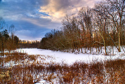 Vermeer Rights Managed Images - Monterey Lake Snow Day Royalty-Free Image by Douglas Barnett