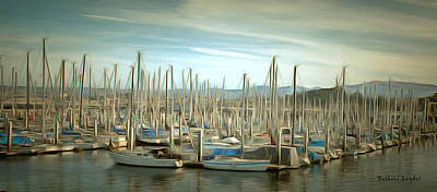 Painting - Monterey Pleasure Boat Harbor by Barbara Snyder