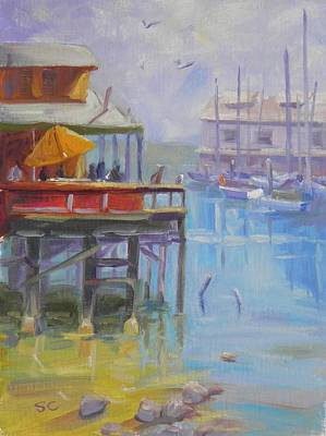 Painting - Monterey Wharf by Sharon Casavant