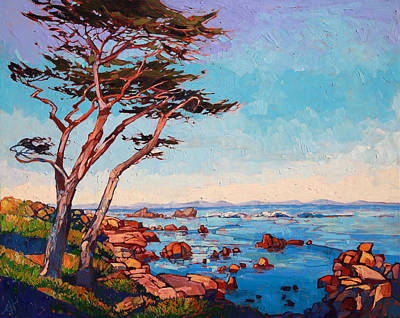 Morning Light Painting - Monterey Wisps by Erin Hanson