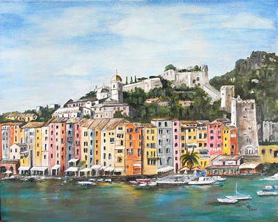 Painting - Monterossa Cinque Terre by Maureen Pisano