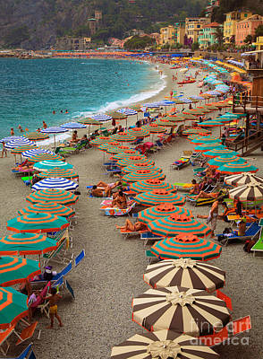 Colors Photograph - Monterosso Beach by Inge Johnsson