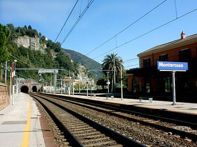Photograph - Monterosso Station by Karen Zuk Rosenblatt