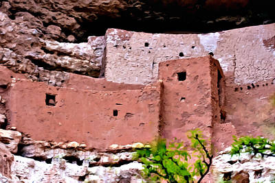 Painting - Montezuma Castle  by Bob and Nadine Johnston