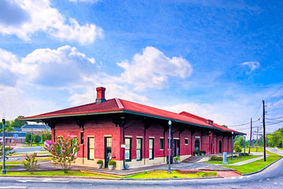Photograph - Montezuma Central Of Georgia Depot - Vintage Railroad by Mark E Tisdale