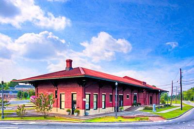Photograph - Montezuma Central Of Georgia Depot - Vintage Railroad by Mark E Tisdale