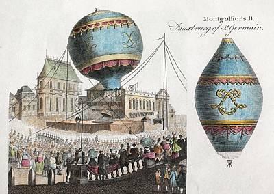 Xvi Photograph - Montgolfier Balloon Flight by Paul D Stewart