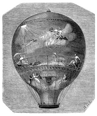 Montgolfier 'le Flesselles' Balloon Art Print by Science Photo Library
