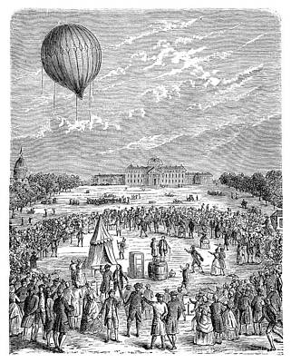 Montgolfier 'le Globe' Balloon Art Print by Science Photo Library
