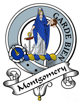 Montgomery Clan Badge Art Print by John Lehman