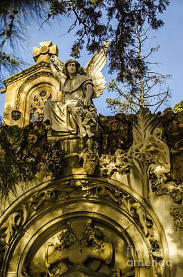 Photograph - Montjuic Cemetery 2 by Deborah Smolinske