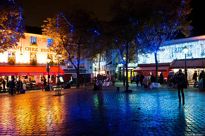 Photograph - Montmartre At Night by Avian Resources